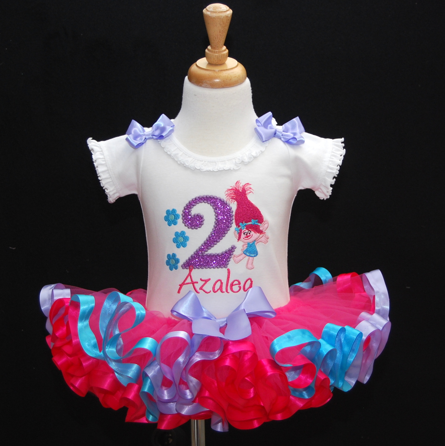 2nd Birthday Girl Outfit, Trolls Birthday Outfit