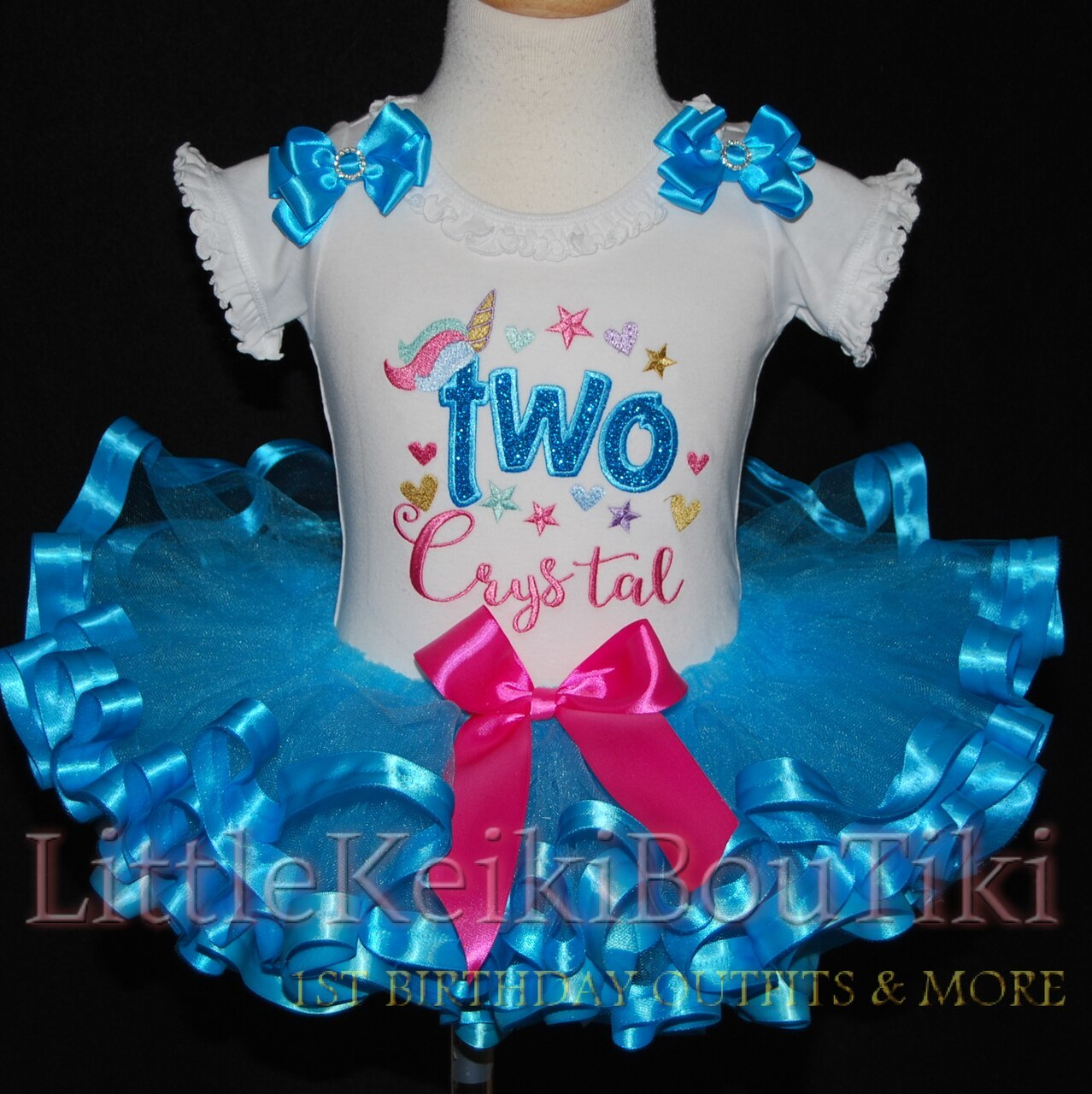 2nd birthday outfit unicorn tutu -toddler birthday dress
