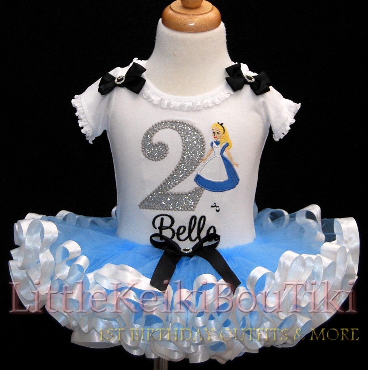 2nd birthday tutu outfit,Alice in Wonderland