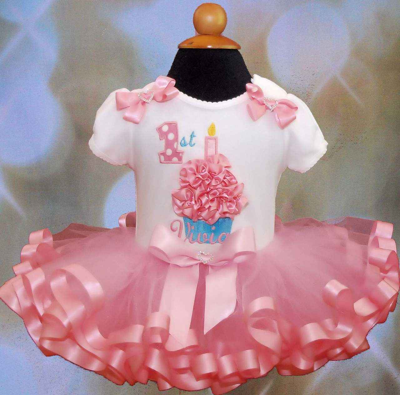 3D Cupcake 1st Birthday girl Outfit 1st birthday tutu dress