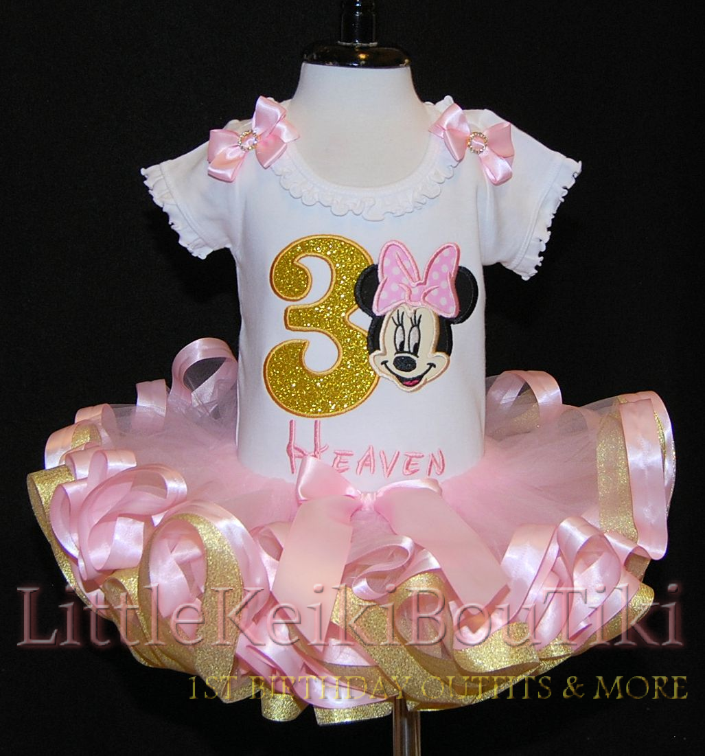 3rd  Birthday outfit girl- Minnie Mouse Birthday Birthday Outfit