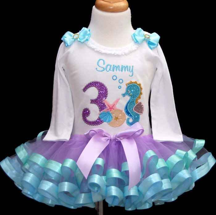 3rd birthday outfit girl , Under the Sea Birthday party-