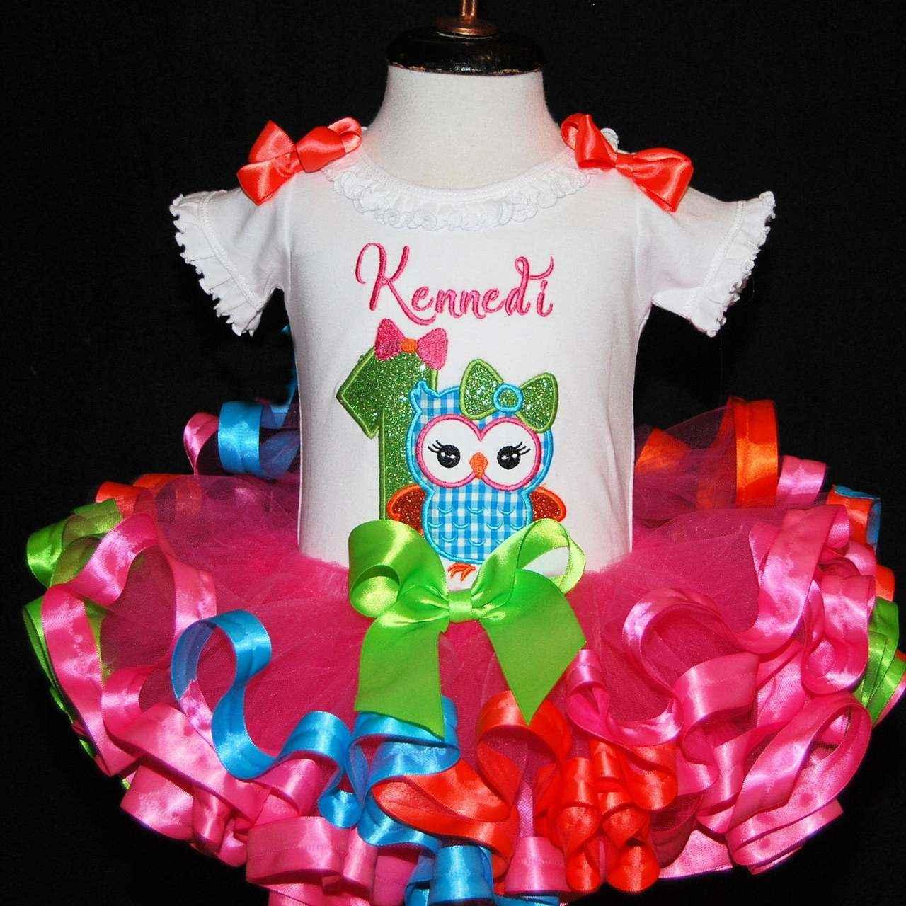 baby girl 1st birthday outfit, 1st birthday girl outfit, baby girl first birthday outfit, cute and colorful Owl