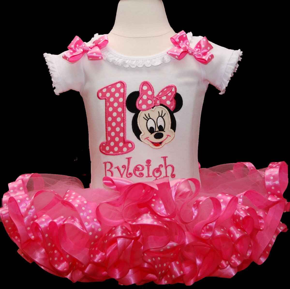 baby girl 1st birthday outfit, baby Minnie 1st birthday outfit, smash cake outfit