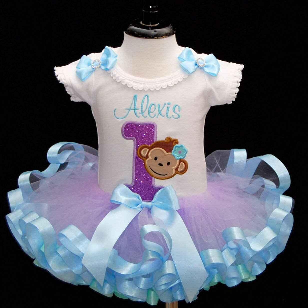 baby girl 1st birthday outfit, mod monkey smash cake set