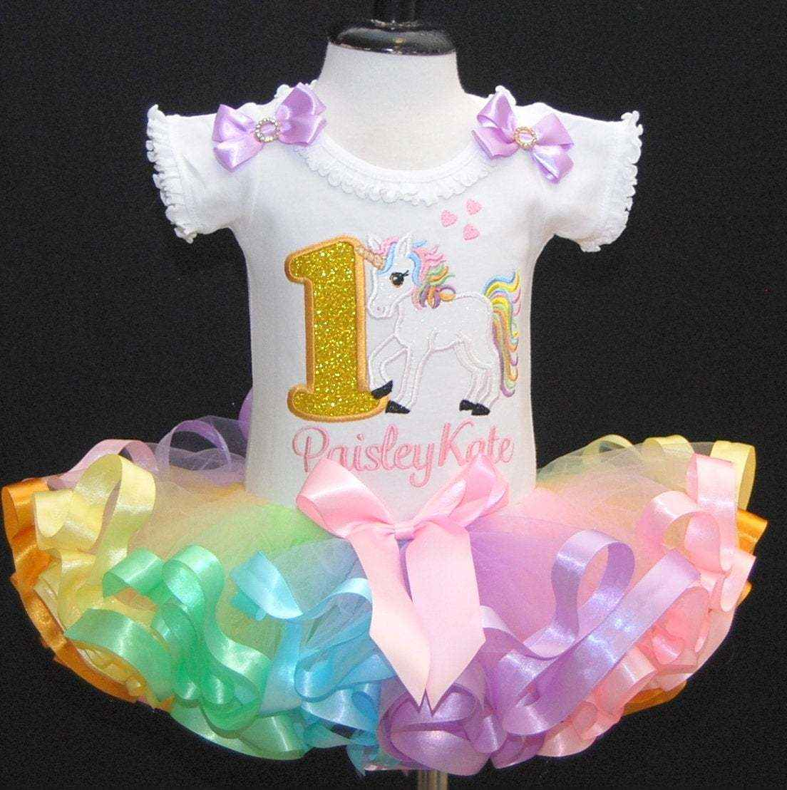 baby girl 1st birthday outfit, unicorn 1st birthday outfit,