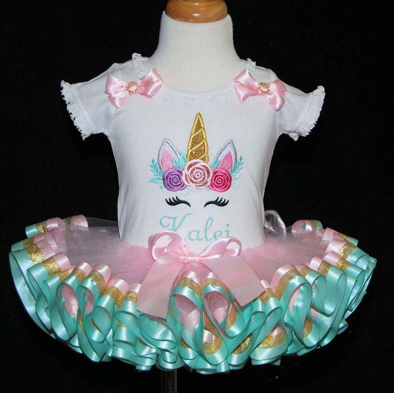 1st birthday outfit, unicorn face birthday smash cake set