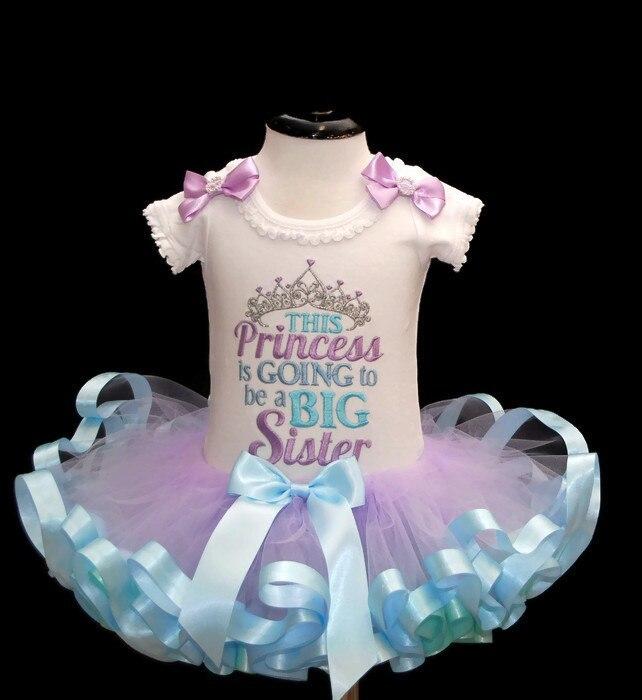 Big sister -gender reveal princess tutu outfit Going to be a big sister tutu dress