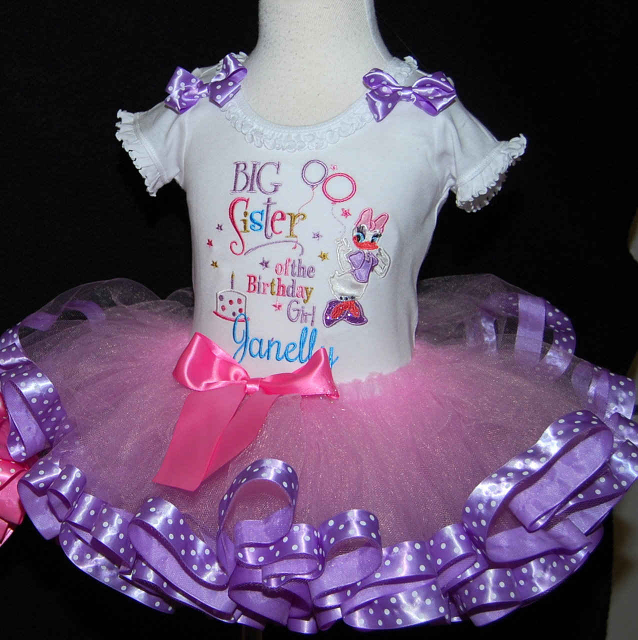 Sibling Outift-Big Sister of the birthday girl tutu outfit Customizable