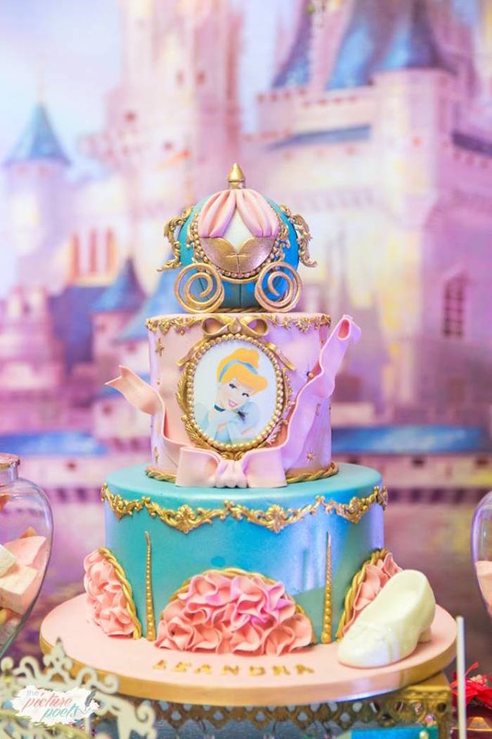 Cinderella's Carriage -1st birthday outfit girl- 4 piece set