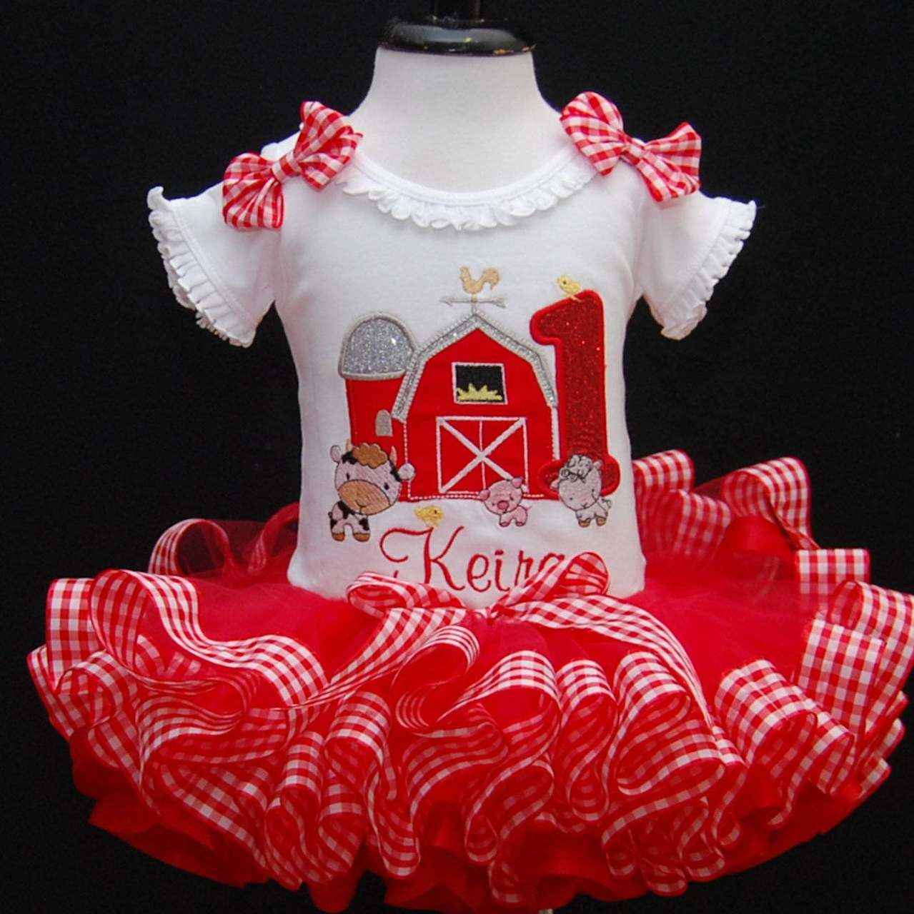 1st birthday outfit barnyard country farm set