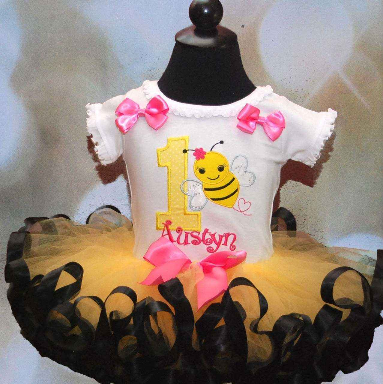 bumble bee first  birthday outfit, 1st birthday outfit-princessbirthday-tutu-set-custom-birthday-bee-first-birthday-outfit