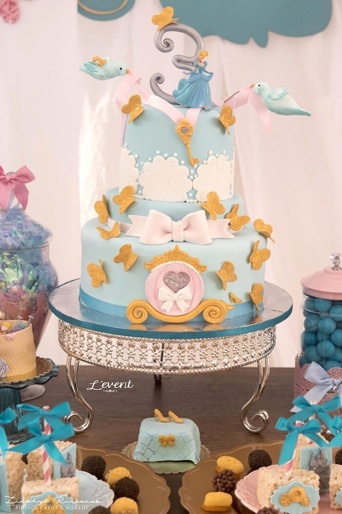 Cinderella 2nd birthday cake, princess tutu outfit