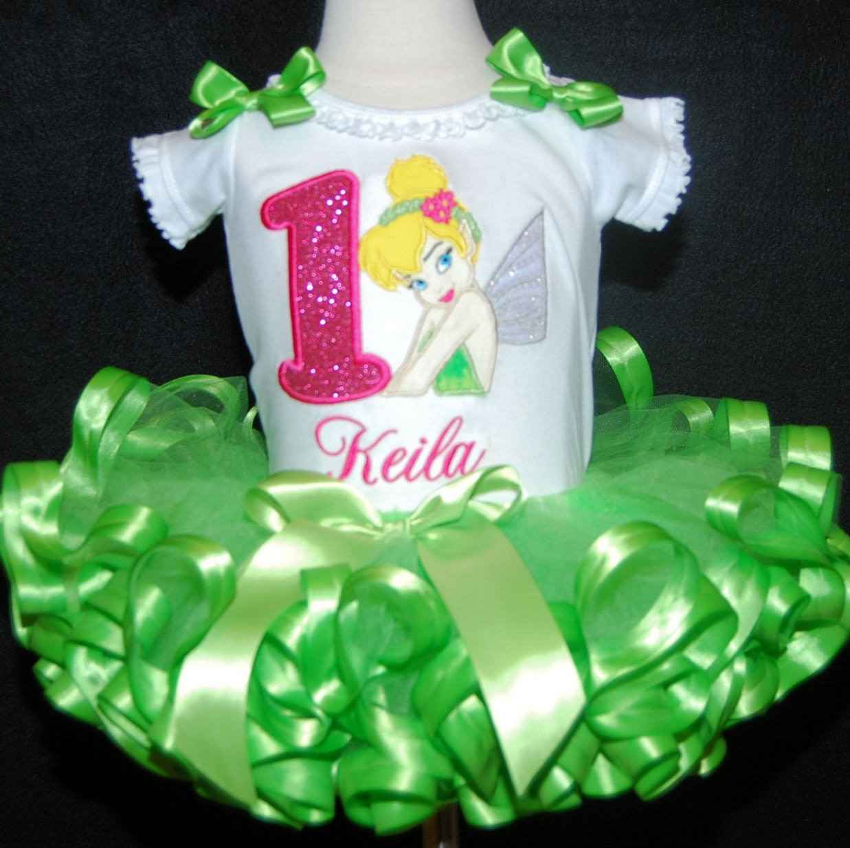 1st birthday outfit girl-Tinkerbell great cake smash outfit