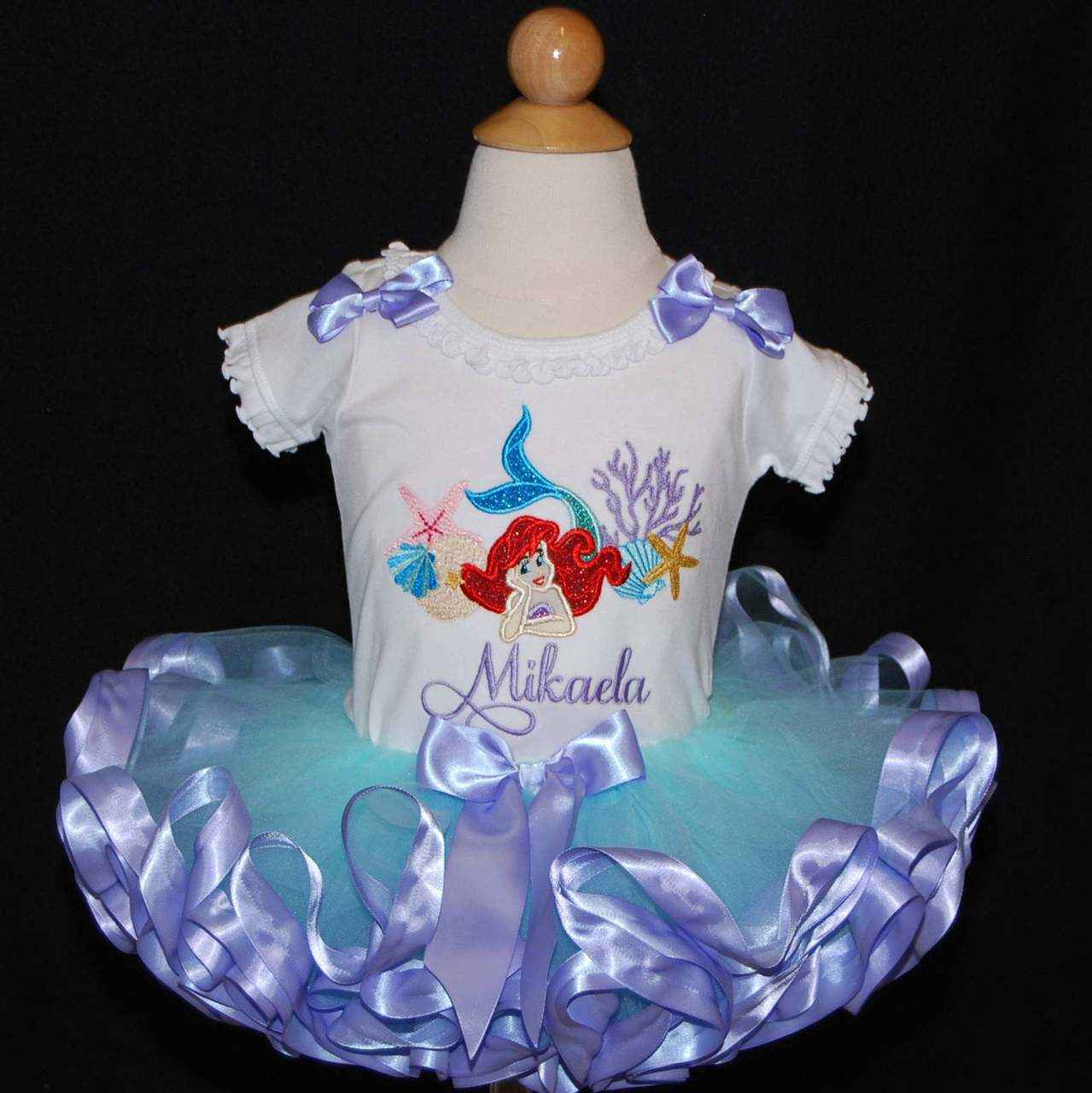 little mermaid birthday tutu outfit 1st birthday outfit