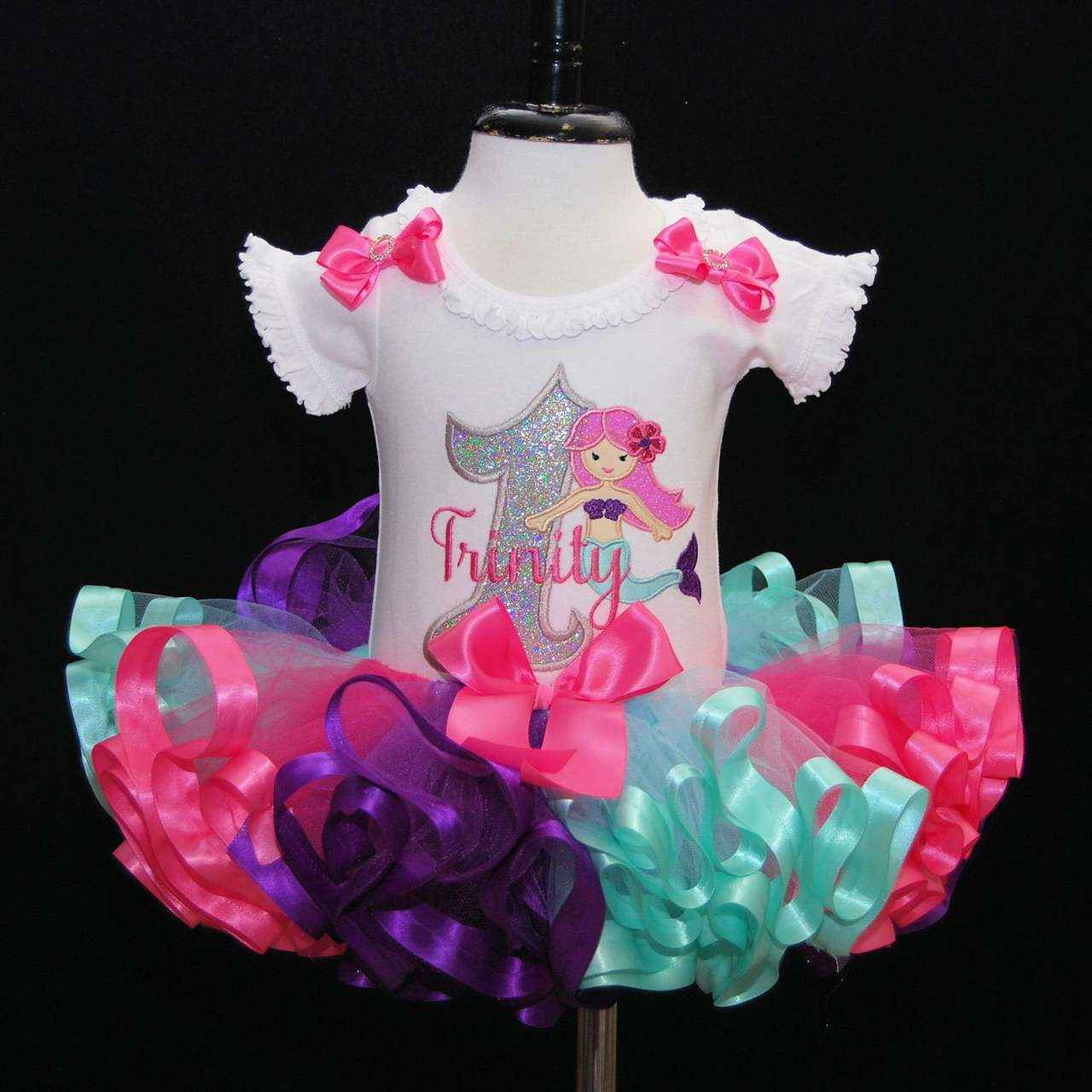 Mermaid 1st birthday outfit 1st birthday girl outfit