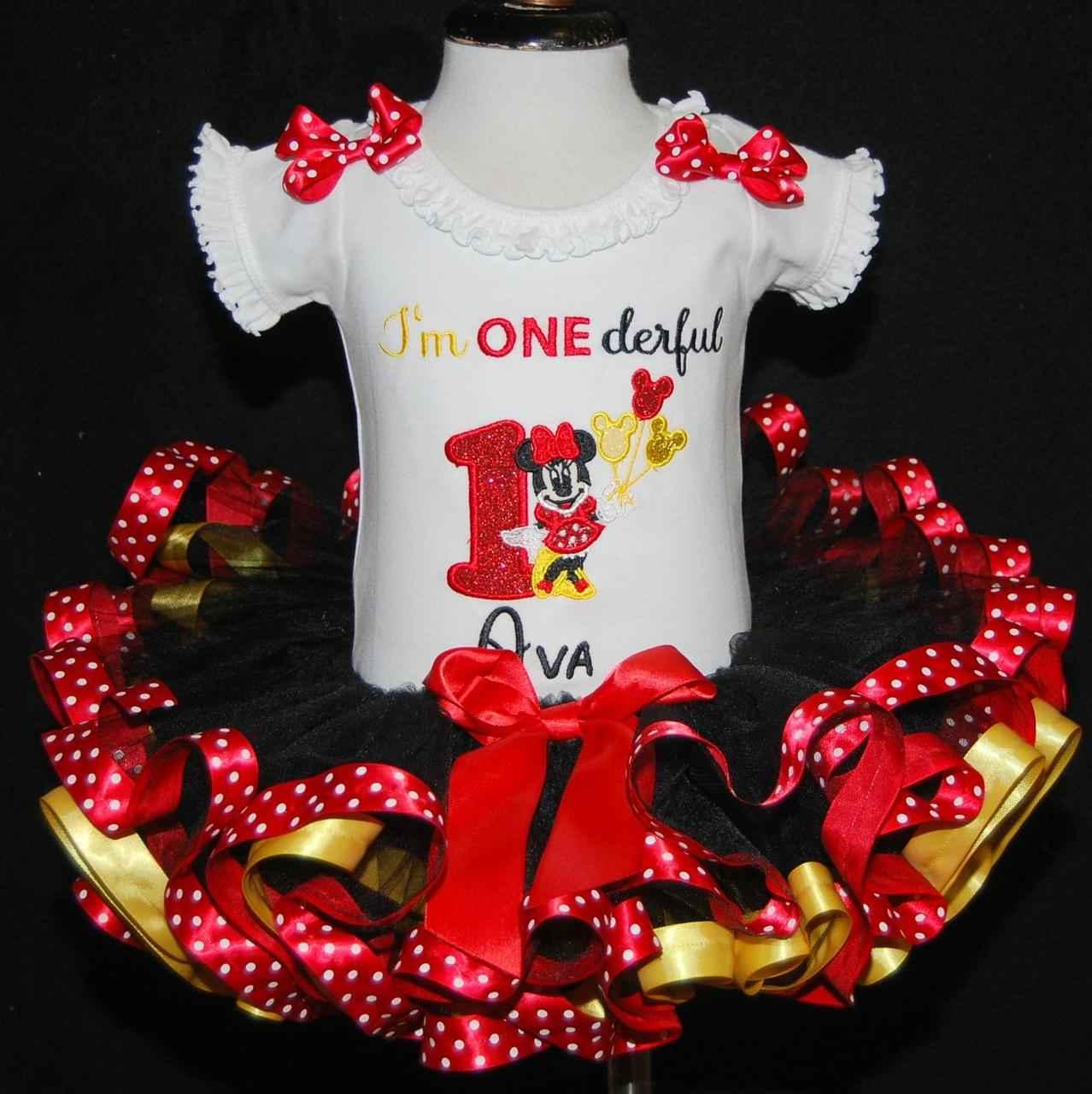 Minnie 1st birthday girl outfit Im One-derful