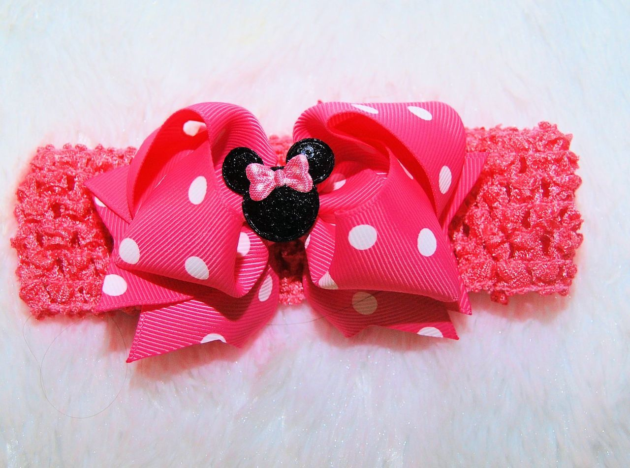 Hair Bow to match Minnie Mouse 1st Birthday Outfit