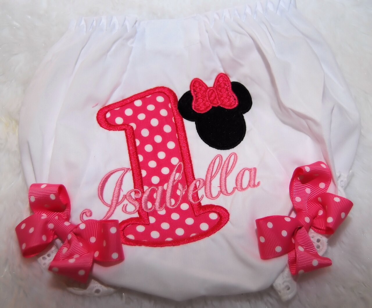 Bloomers for Minnie Mouse 1st Birthday outfit- 4 piece set