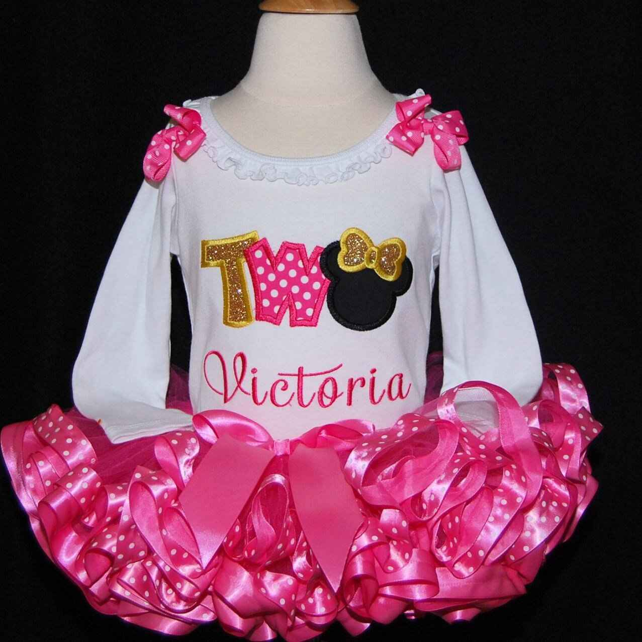 Minnie Mouse 2nd birthday outfit TWO