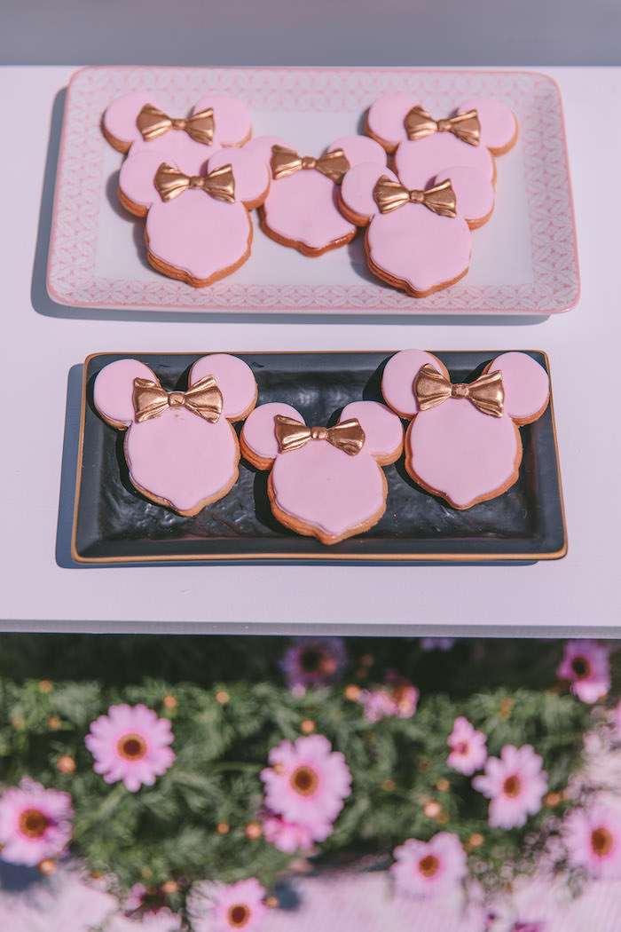 Minnie Mouse birthday outfit 1st birthday pink & gold
