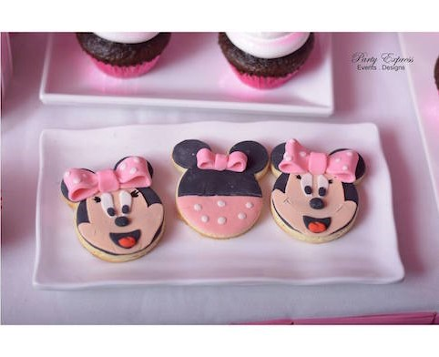 Minnie Mouse Outfit First Birthday- frosted Minnie Mouse cookies
