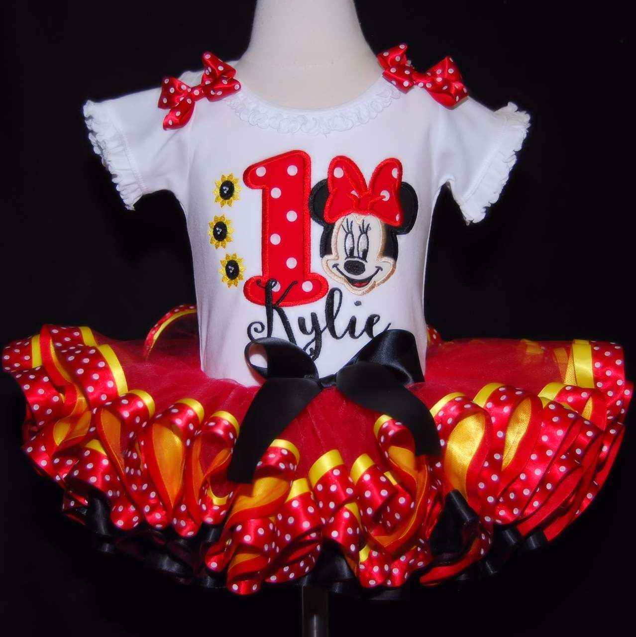 minnie mouse birthday outfit 1st birthday tri color