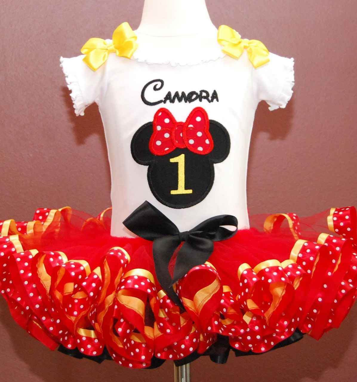 minnie mouse birthday outfit girl 1st birthday girl outfit in red