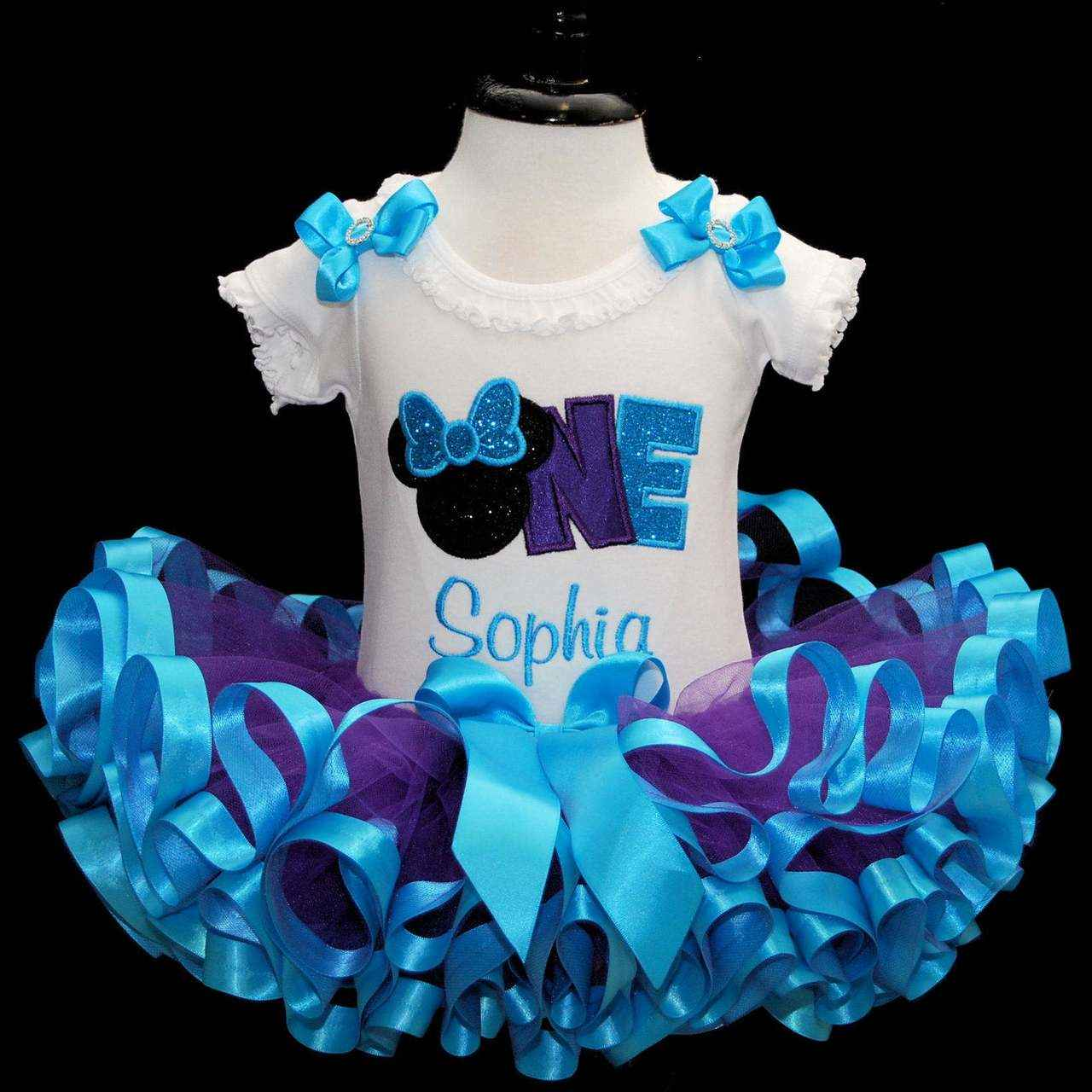 minnie mouse birthday outfit, first birthday tutu outfit, personalized , first birthday tutu outfit, ribbon trim tutu, cake smash, 1st baby