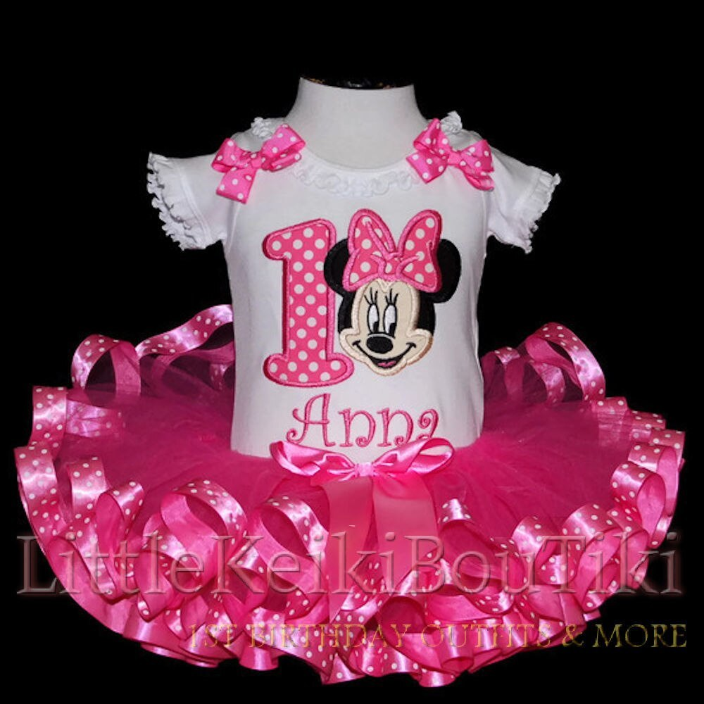Custom Made Minnie Mouse Pink Birthday OutfitDress ANY AGE OUTFIT...