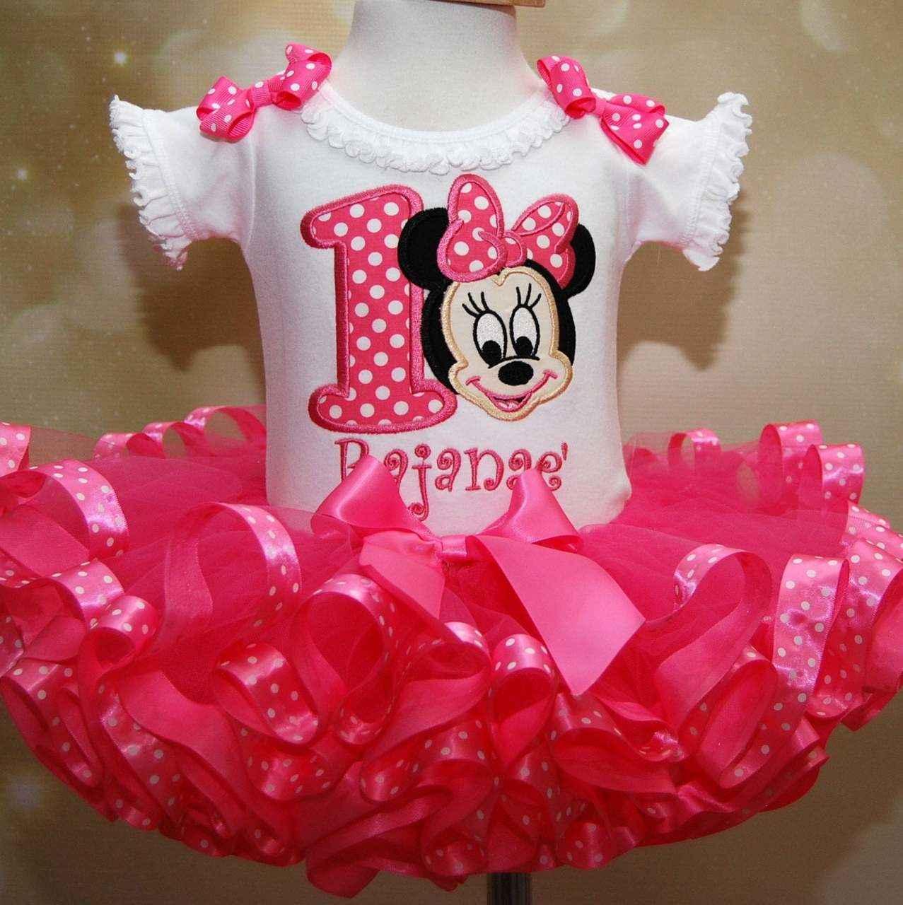 Minnie Mouse birthday outfit, 1st birthday dress Baby Minnie-custom birthday outfits