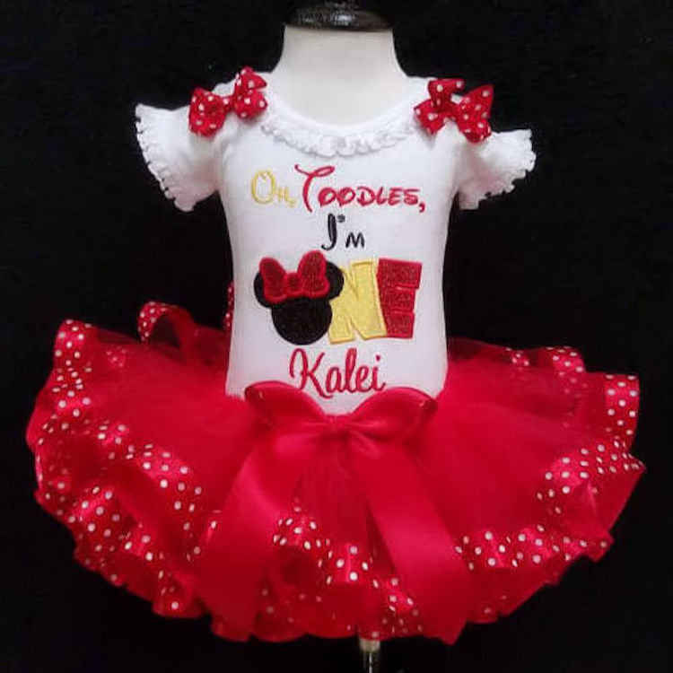 oh toodles birthday outfit toodles embroidery design oh toodles Im one little girls first birthday dress minnie mouse birthday outfit tutu