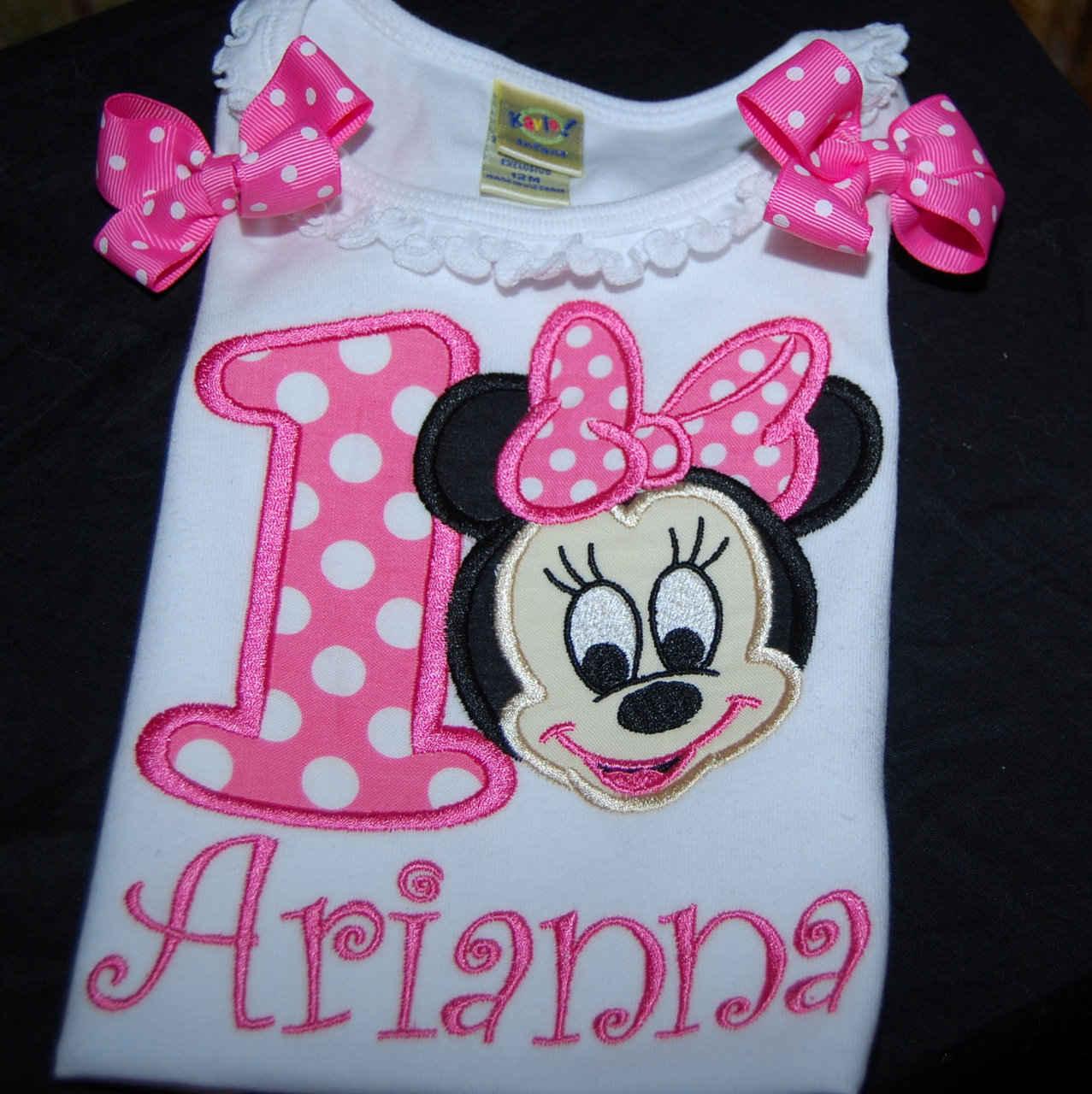 personalized birthday shirt, 1st birthday shirt, Minnie Mouse birthday party, pink birthday shirt baby Minnie Mouse personalized shirt