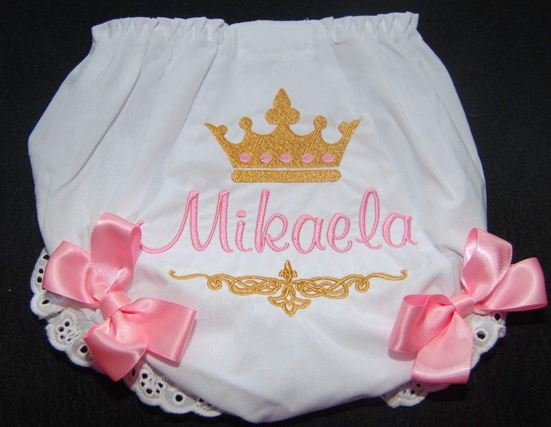 Bloomers to march Princess Birthday outfit pink nd gold