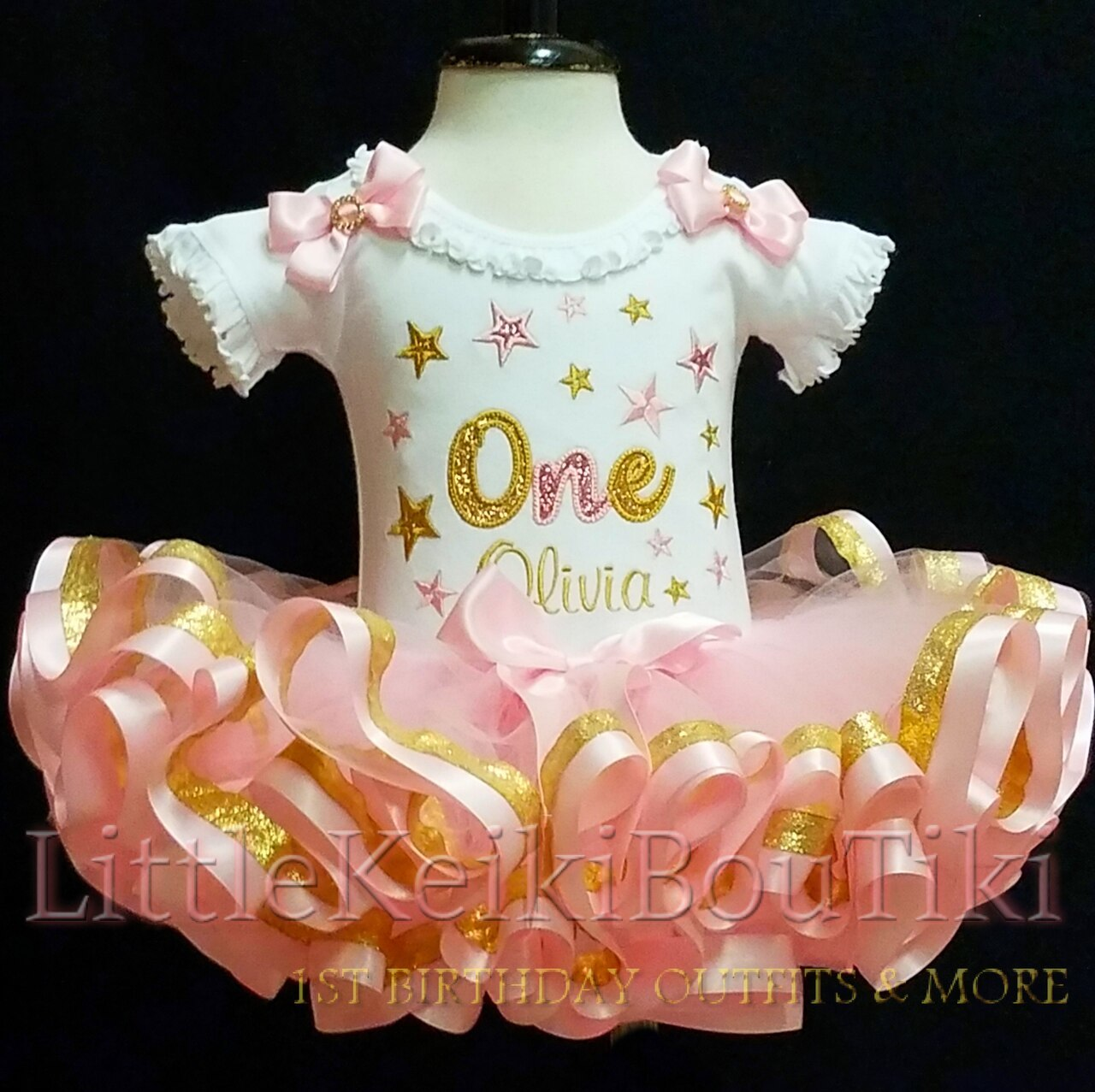 pink and gold birthday 1st birthday girl outfit 1st birthday pink gold birthday onesie bloomers personalized word one first birthday outfit