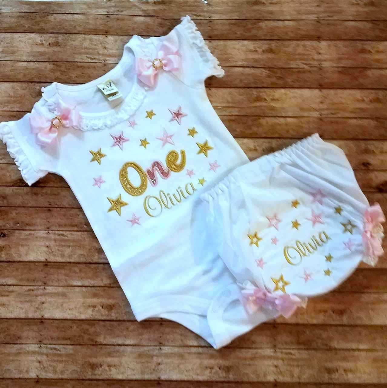 pink and gold birthday outfit 1st birthday girl cake smash outfit 1st birthday pink and gold onesie smash cake set bloomers chunky necklace