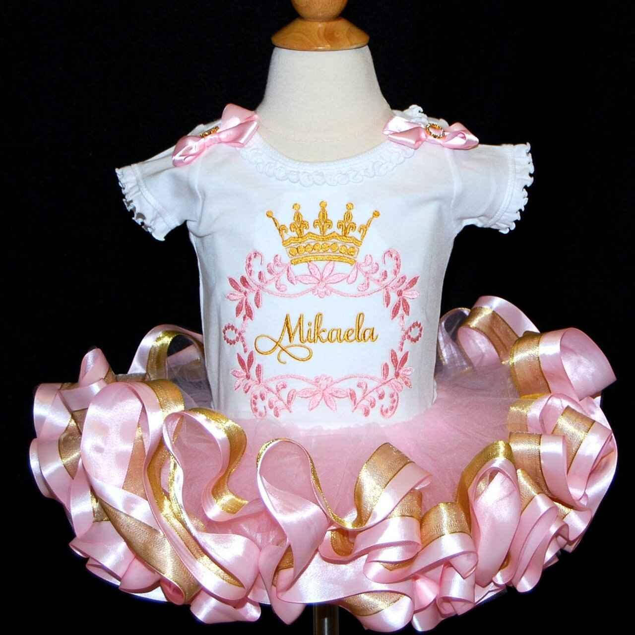Princess crown 1st birthday, pink and gold outfit
