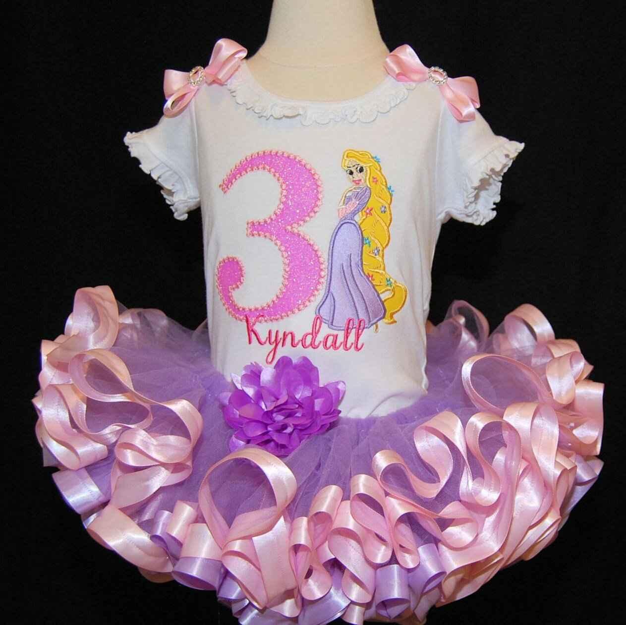 Princess Rapunzel 3rd Birthday Outfit, princess birthday tutu, birthday tutu, 3rd birthday outfit, tutu dress, birthday tutu outfit, tutu