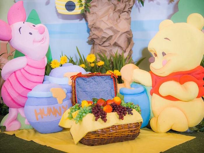 First Birthday girl outfit, Baby Pooh Bear, rainbow tutu dress