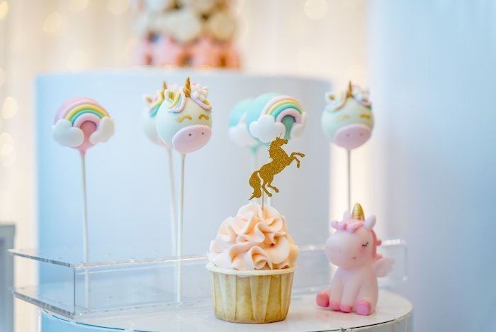 unicorn 1st birthday  goodies