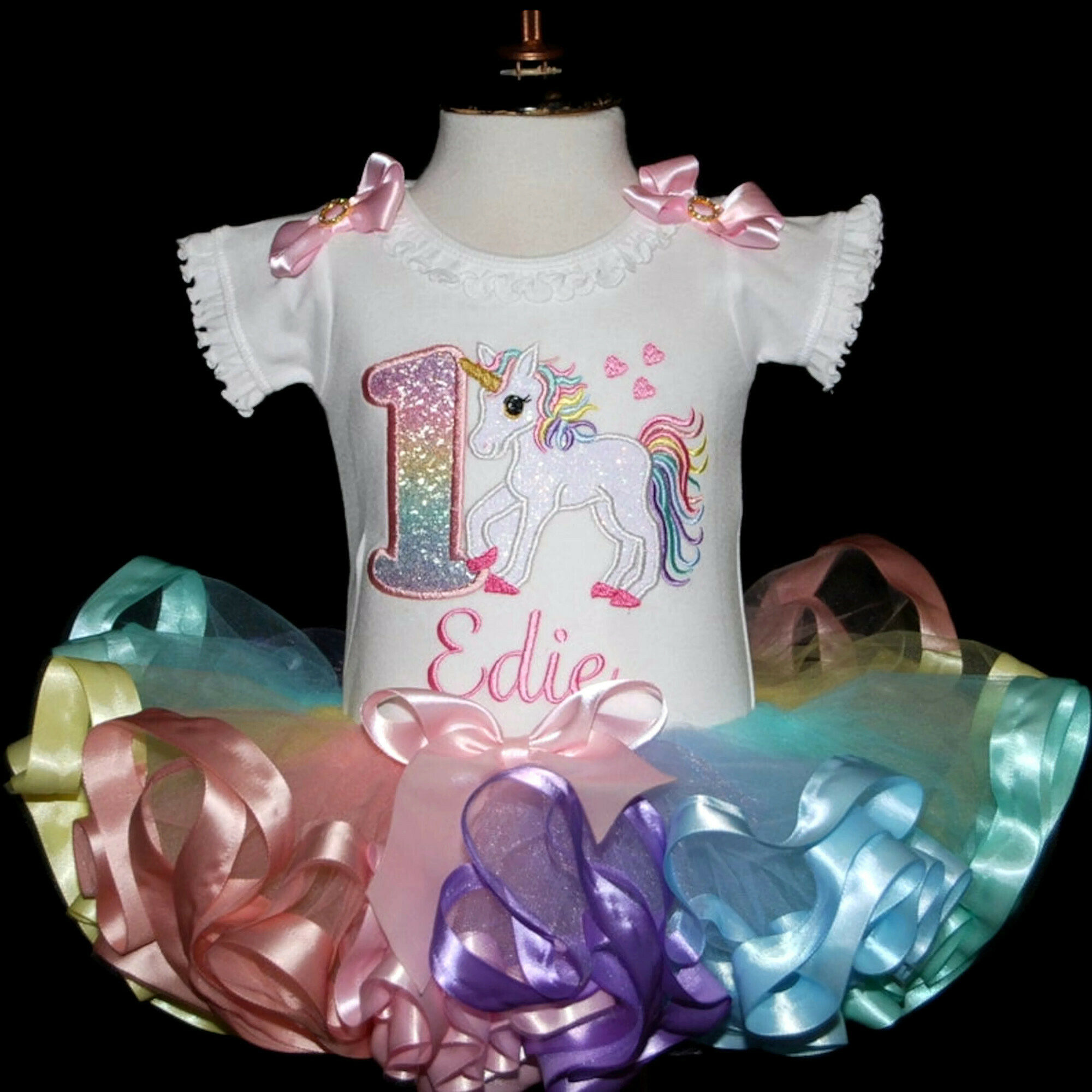 unicorn 1st birthday outfit-first birthday outfit girl-smash cake outfit