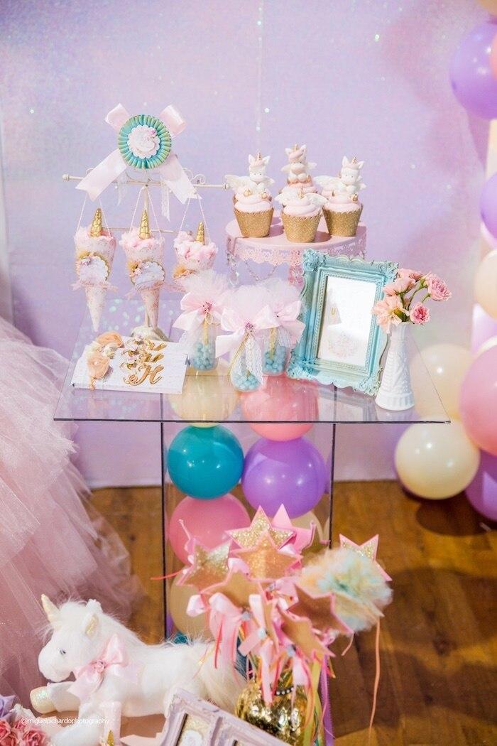 LittleKeikiBouTiki Exclusive unicorn 1st birthday outfit with pastel rainbow tutu, first birthday girl outfit unicorn
