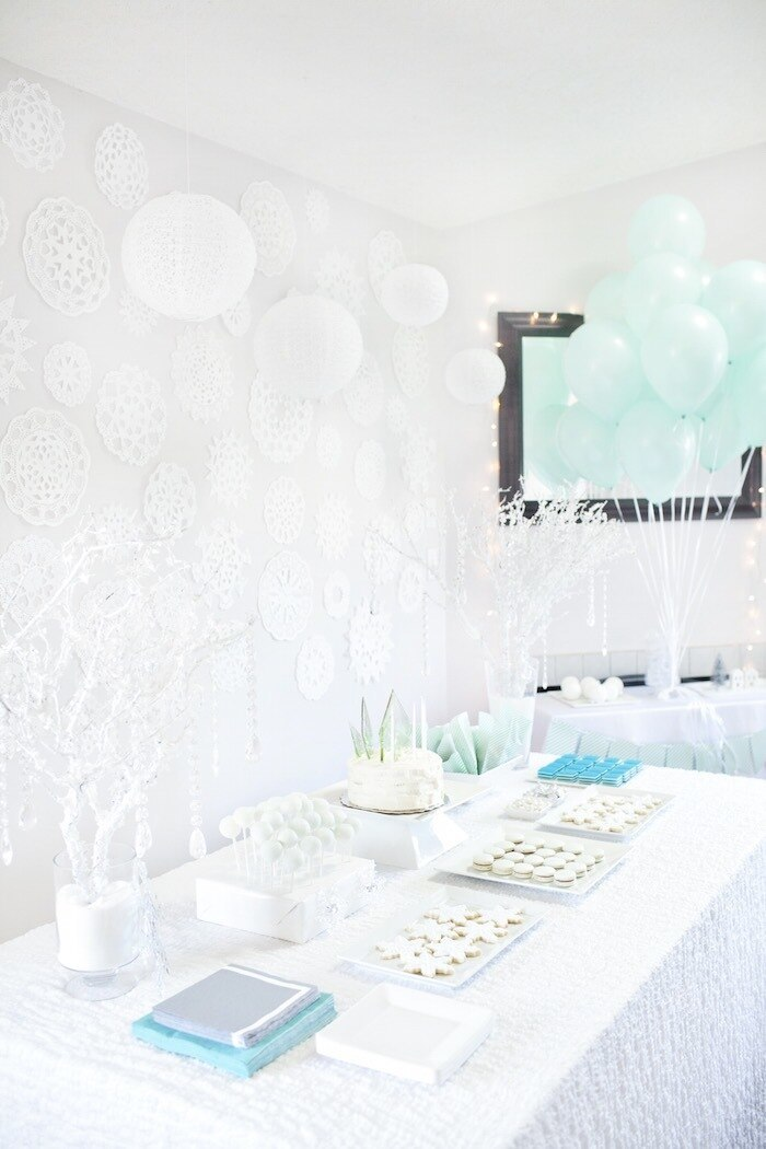 party goodies  for winter onederland-1st birthday party