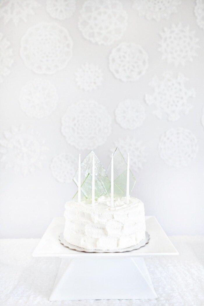 Birthday cake for winter onederland 1st birthday party