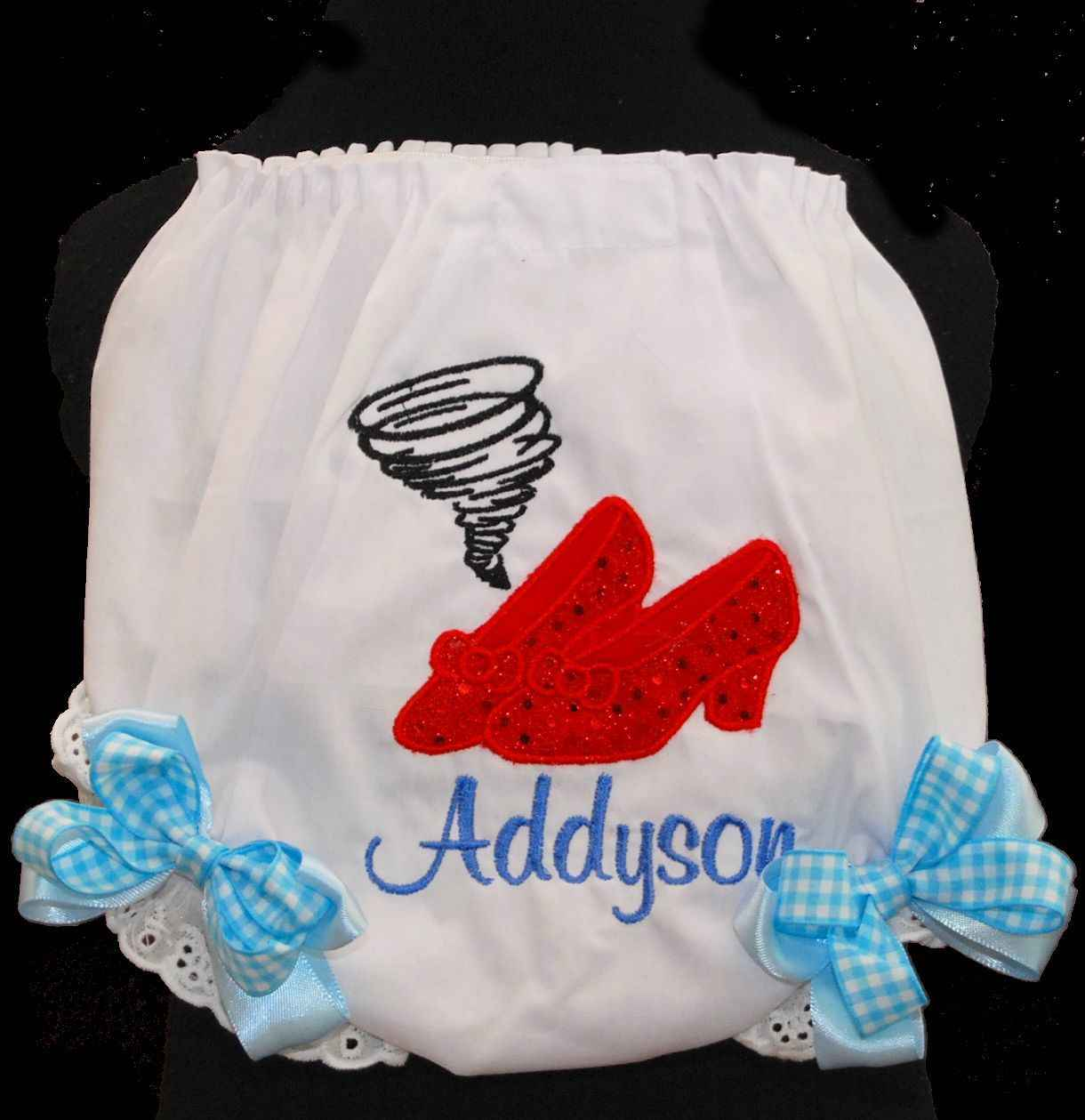 1st Birthday bloomers Wizard of Oz, Dorothy and Toto-