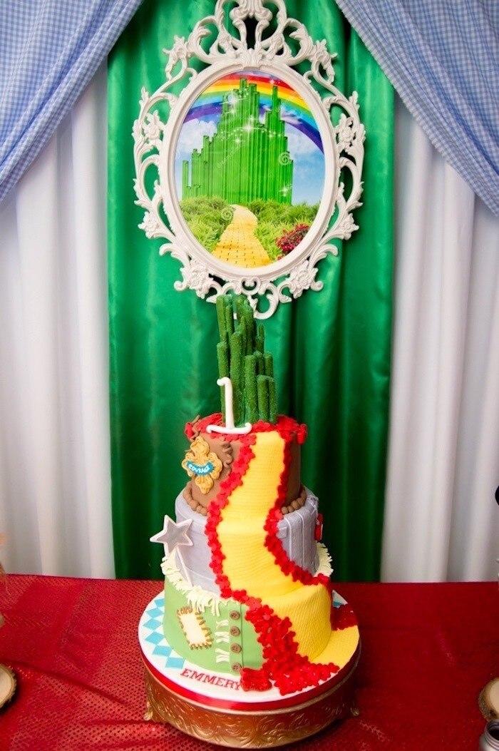 matching-birthday-cake-party-decor-karaspartyideas.com