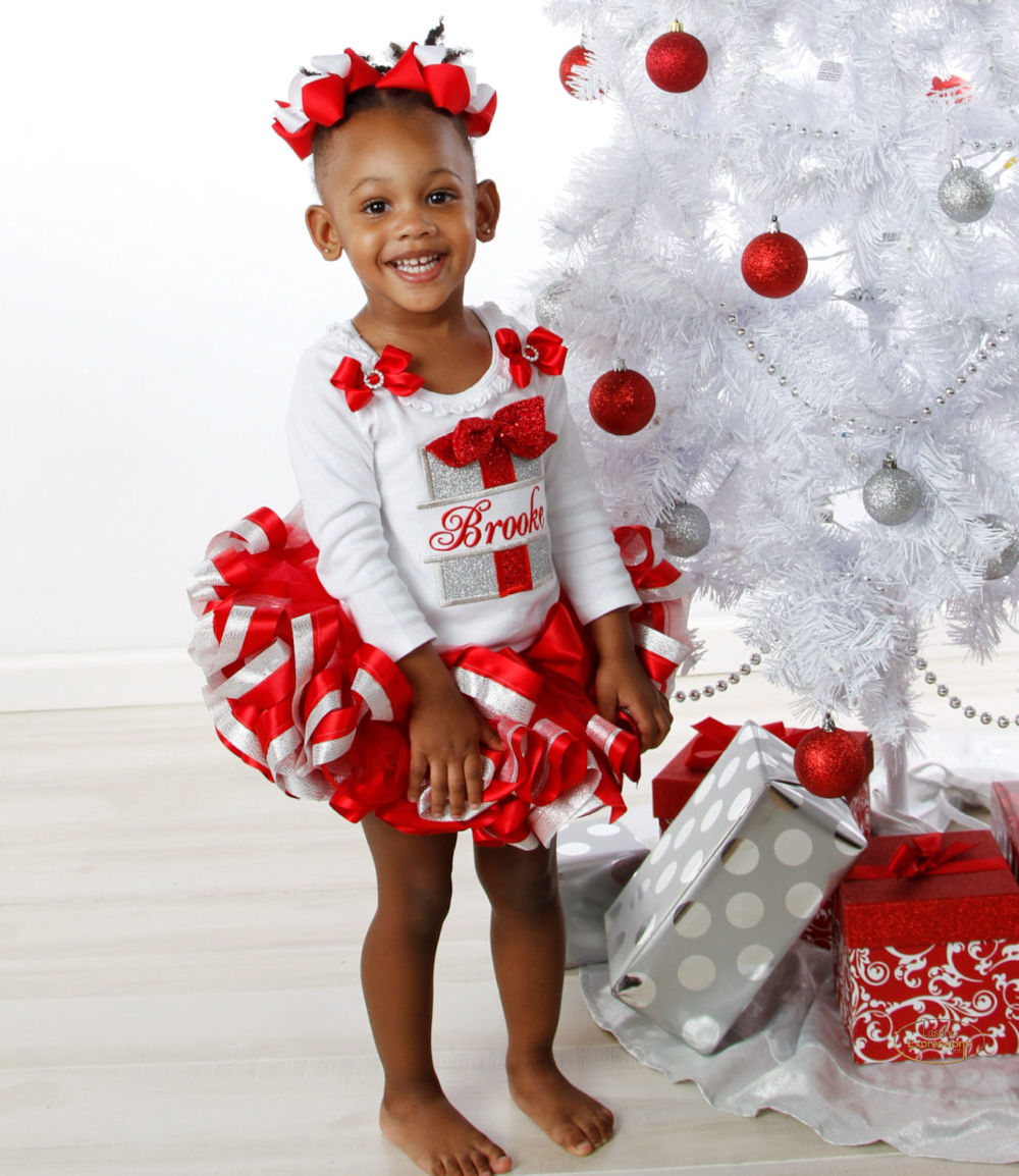 model wearing christmas outfit