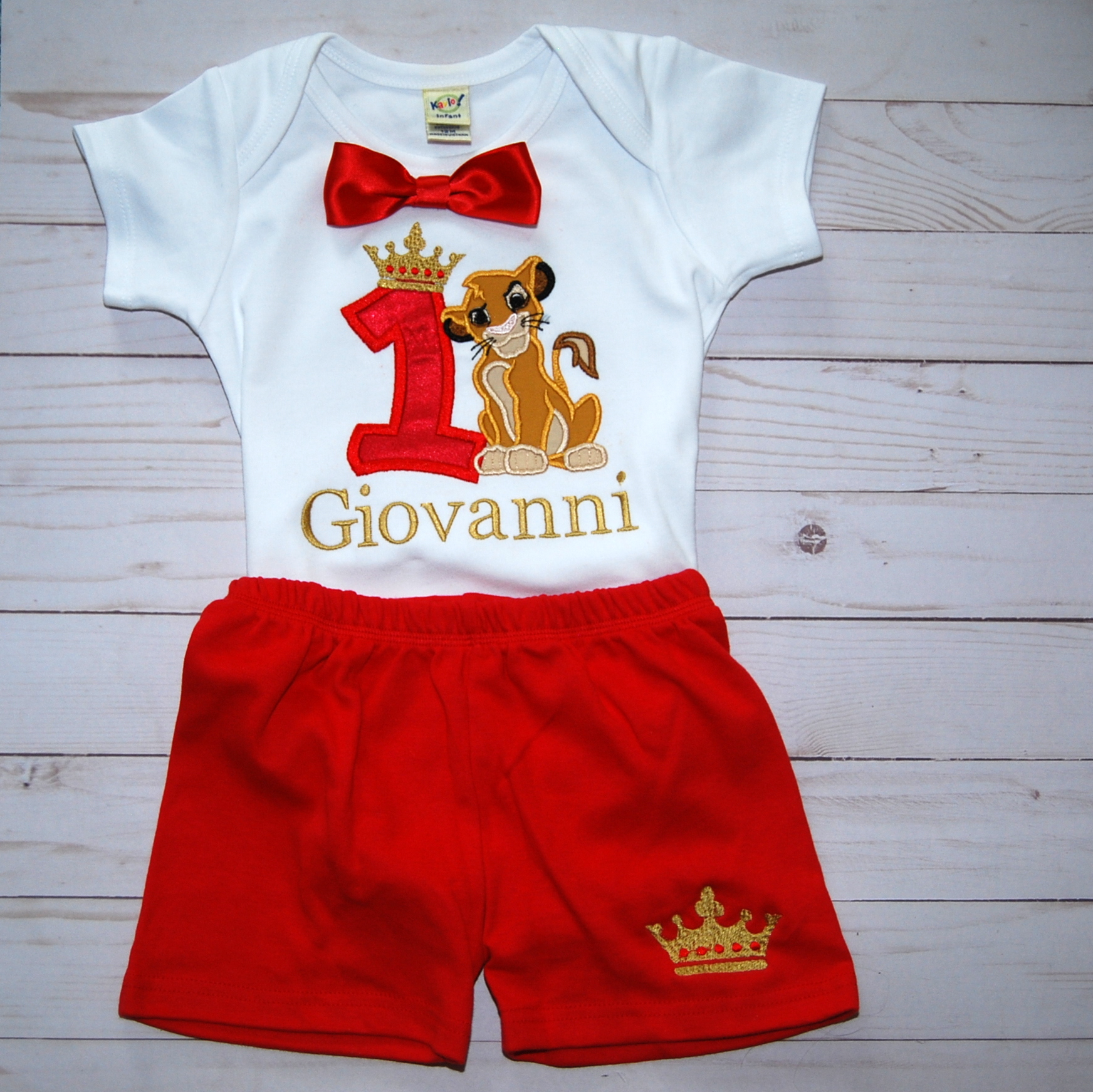 1st Birthday Outfit Boy, Lion King Birthday