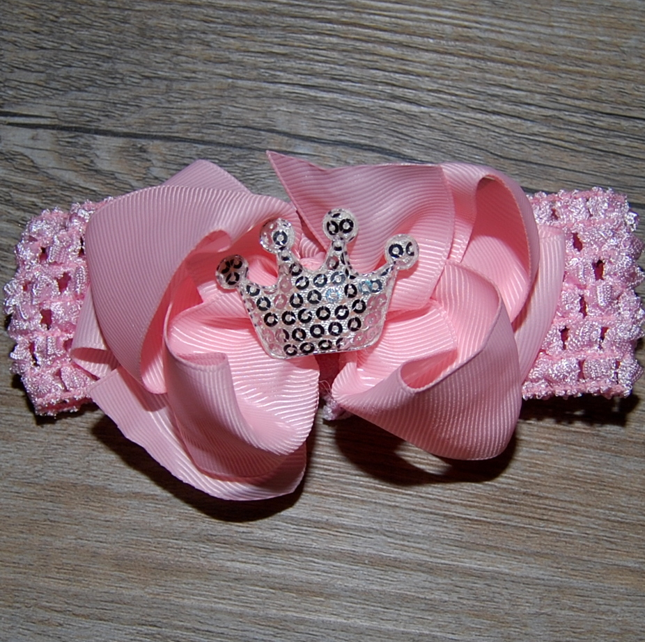 matching hair bow princess crown