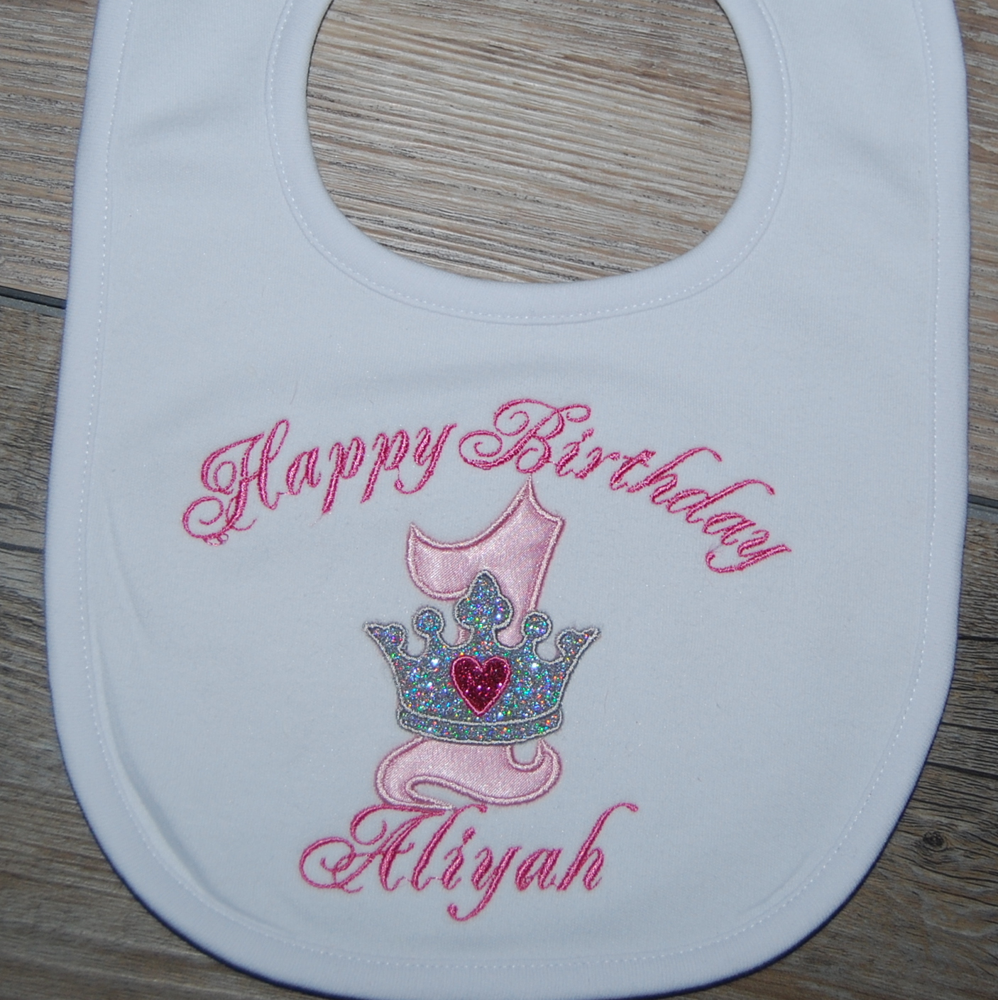 princess crown bib